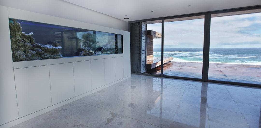 custom aquarum Fish tank with a view